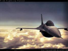 F-16 Fighting Falcon by marauderx666