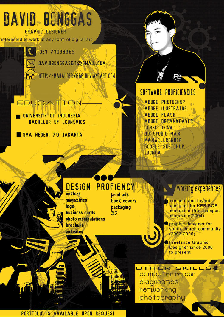 30 Beautiful Designer S One Page Resume Samples The Design Work