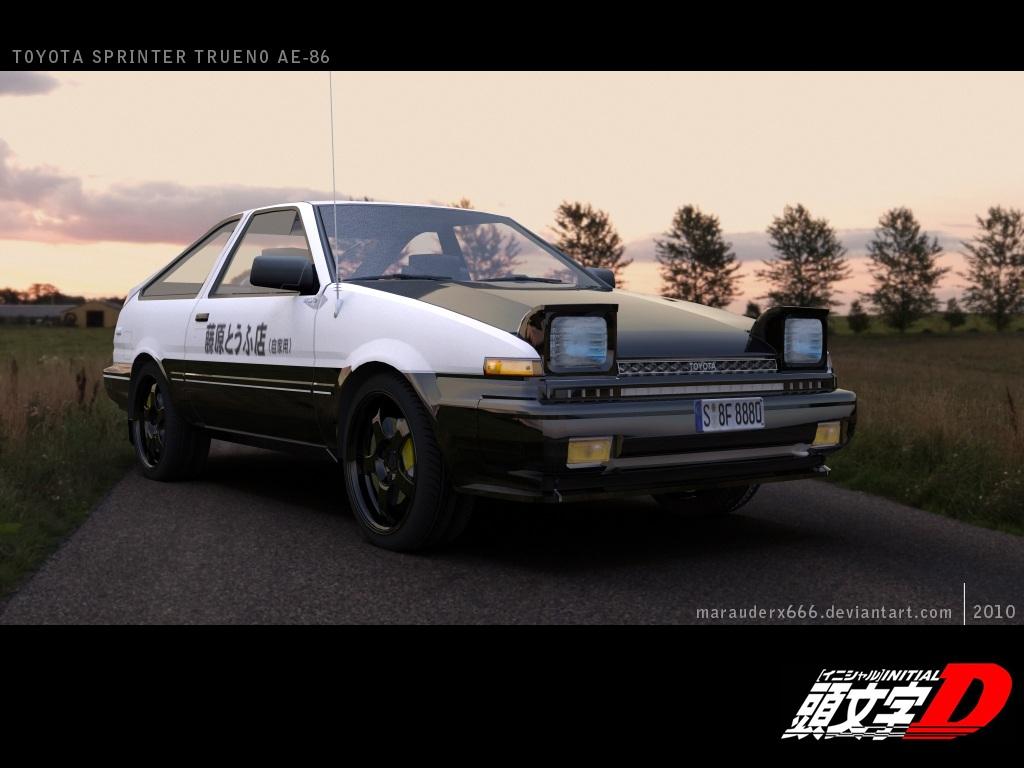 Toyota Sprinter Trueno AE 86 By Marauderx666