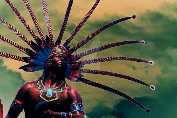 estatua de indigena mexicano by Agiordano