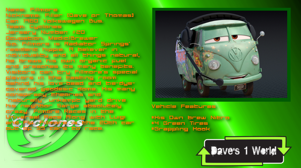 Daves World Fillmore Cars Info By PowerStroke On DeviantArt - Dave's cool cars