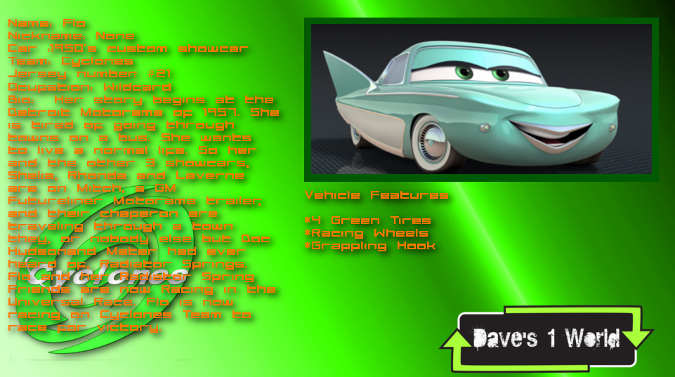 Daves World Flo Cars Info By PowerStroke On DeviantArt - Dave's cool cars