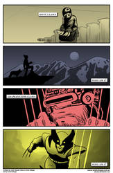 4 panels Secret Origin - Logan