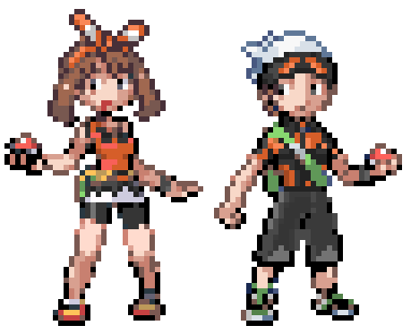 oras brendan and may gba style by leehatake93 on deviantart