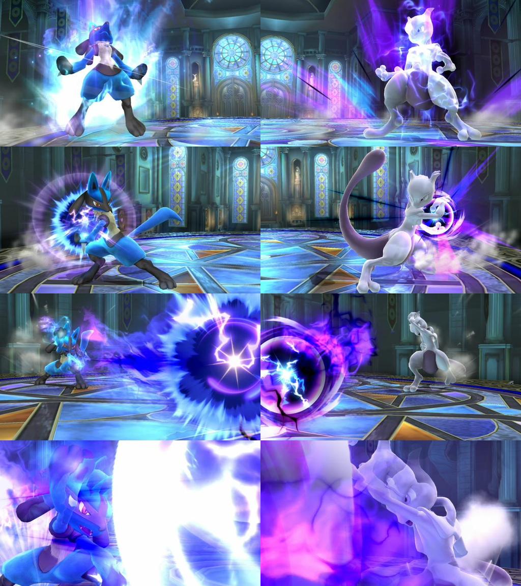 Super Smash Bros: Lucario vs Mewtwo by LeeHatake93 on ...
