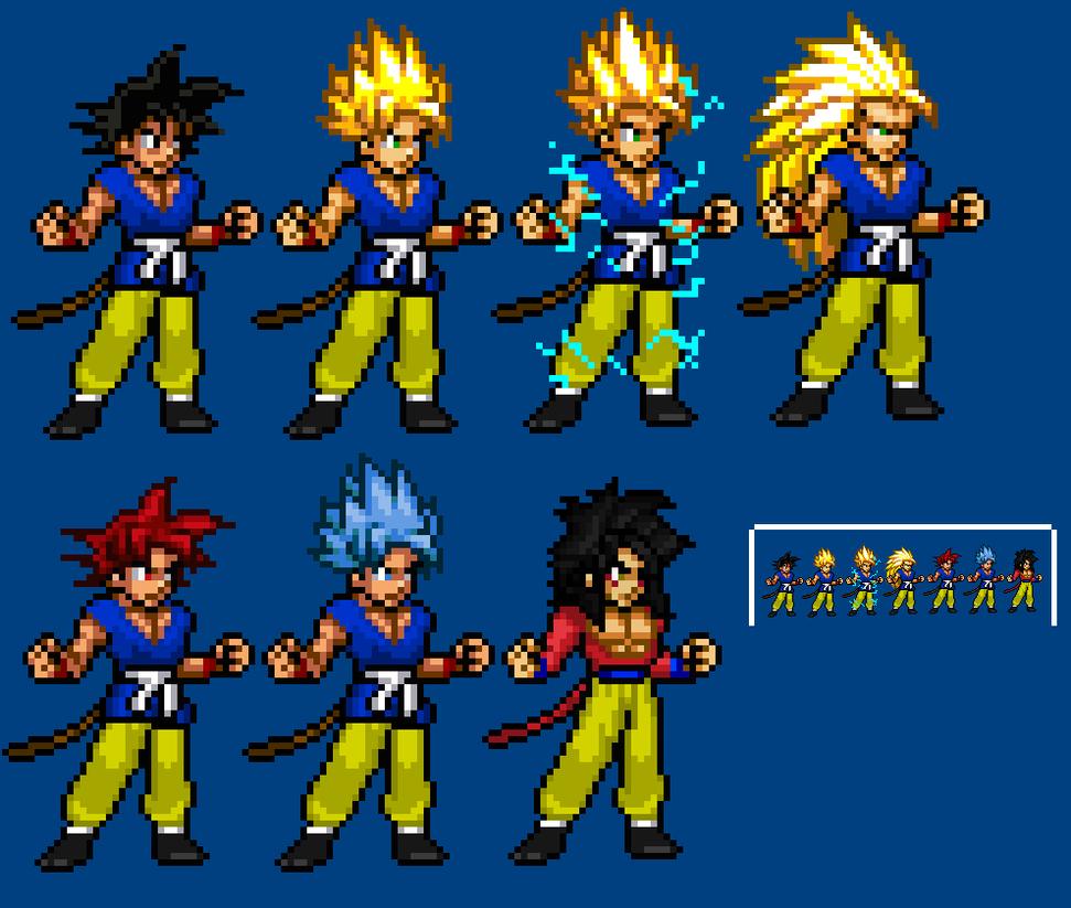 Adult GT Goku Sprites by LeeHatake93 on DeviantArt