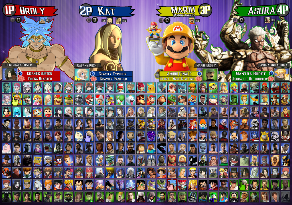 The Crossover Game Roster Licensed By LeeHatake93