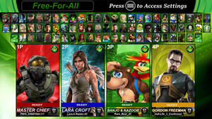 Microsoft Legends Battle Zone X: Character Roster