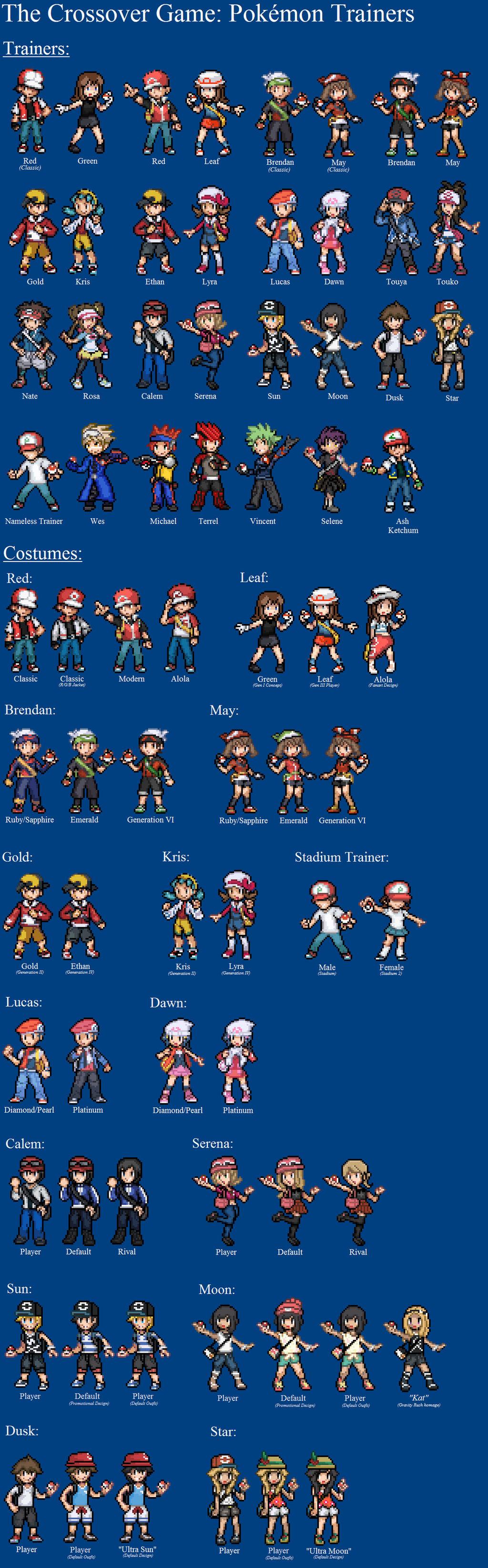 Pokemon Trainer Sprites by LeeHatake93 on DeviantArt