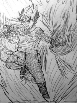 Naruto x Dragon Ball: Lee Hatake x Leek Fusion