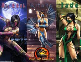 The Ladies of Mortal Kombat by DarkGemineye
