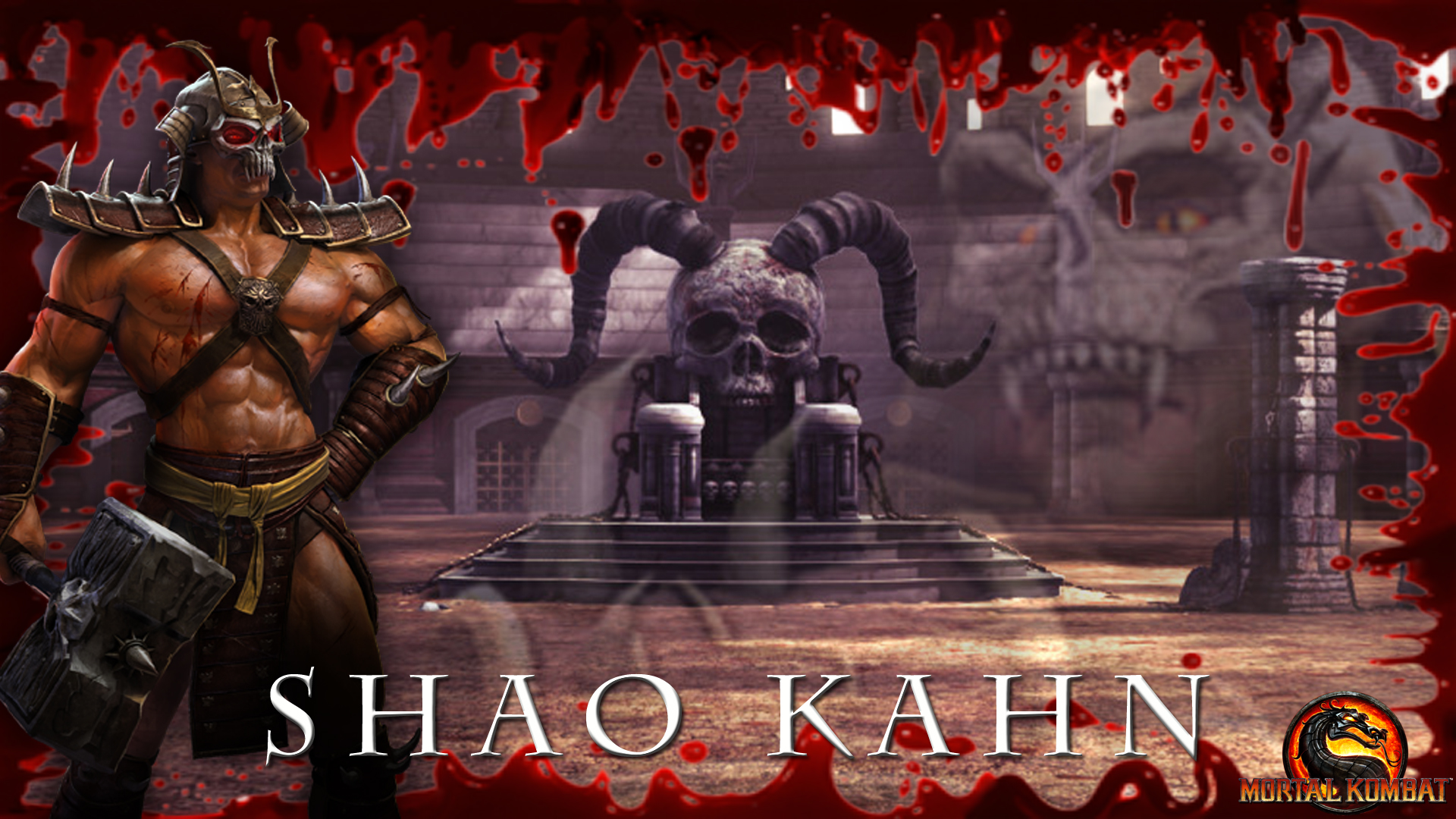Shao Kahn Wallpaper MK 2011 by DarkGemineye on DeviantArt