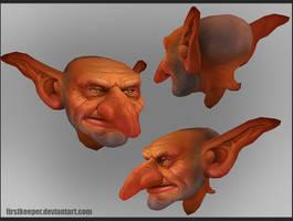 Goblin head by FirstKeeper