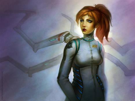 Concept futuristic girl