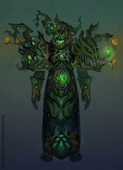 Druid Hunted forest concept