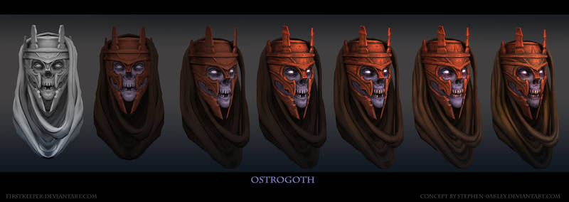 Ostrogoth Head by FirstKeeper