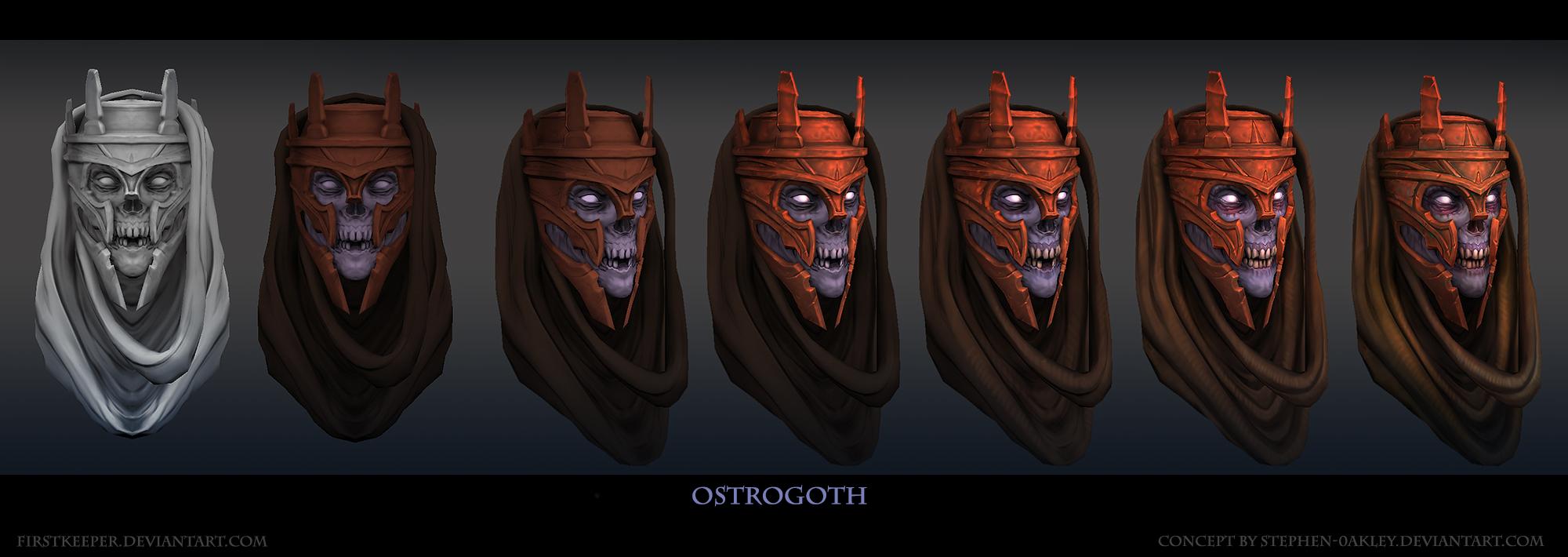 Ostrogoth Head by FirstKeeper