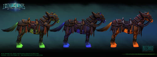 Headless Horseman mount colors by FirstKeeper