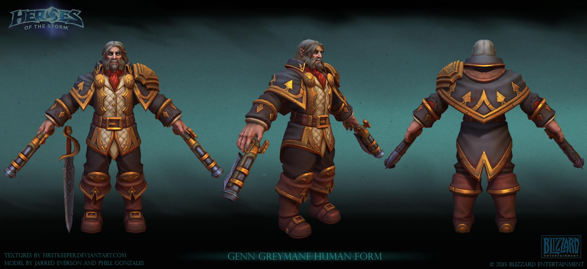 Genn Greymane human version by FirstKeeper on DeviantArt