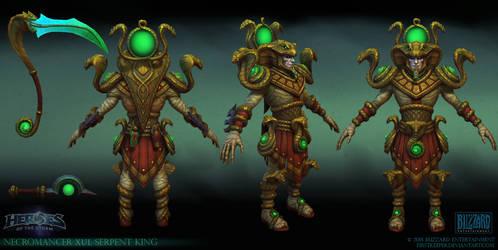 Necromancer Serpent King by FirstKeeper