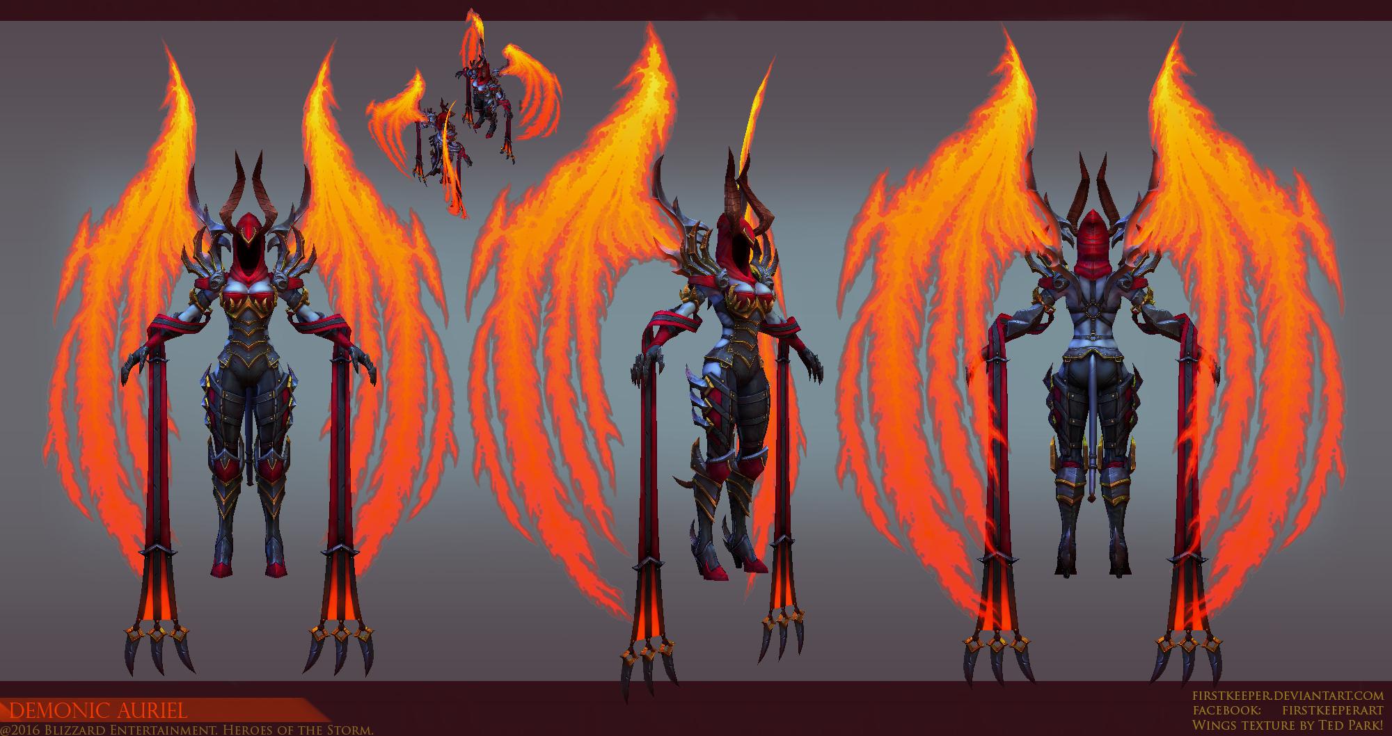Demonic Auriel Final by FirstKeeper