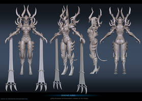 Demonic Auriel Sculpt by FirstKeeper