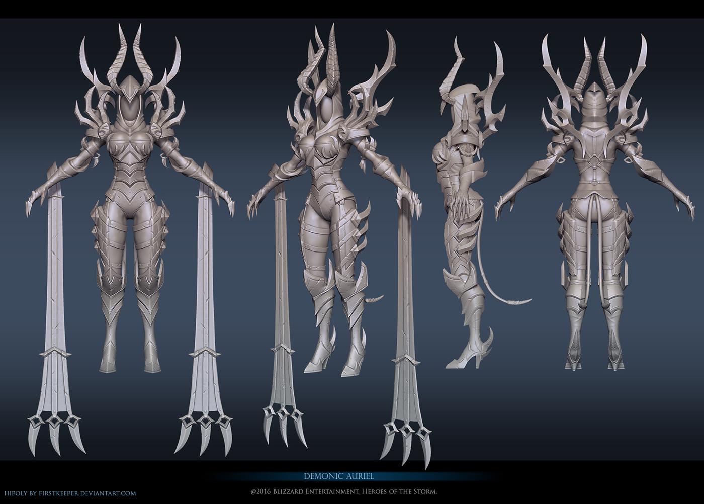 Demonic Auriel Sculpt by FirstKeeper