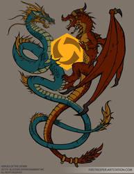 Two Dragons Tshirt design