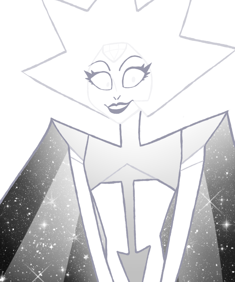 "I KNOW I'M LATE TO THE TRAIN, BUT, IT TOOK ME FOREVER TO LEARN HOW TO DRAW HER. ;w; But anyways, I love White Diamond to death, Rebecca Sugar really nailed that ""final boss battle"" feel. She scared..."