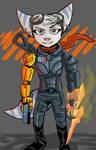 Rivet Wearing Commander Shepard's N7 Armor