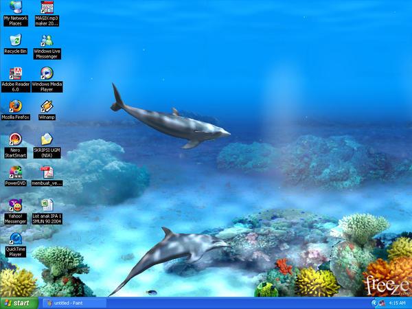 My desktop - living dolphin 3D by xXNiaazXx on DeviantArt