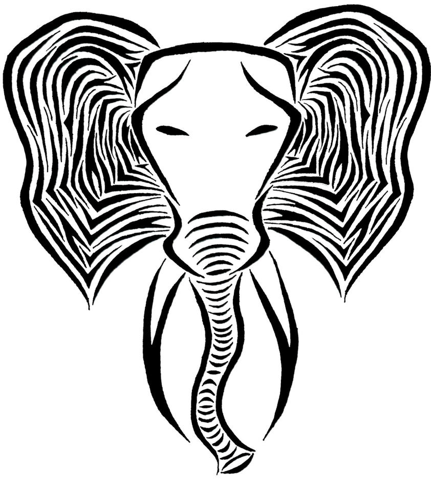 Tribal elephant tattoo designs - photo#16