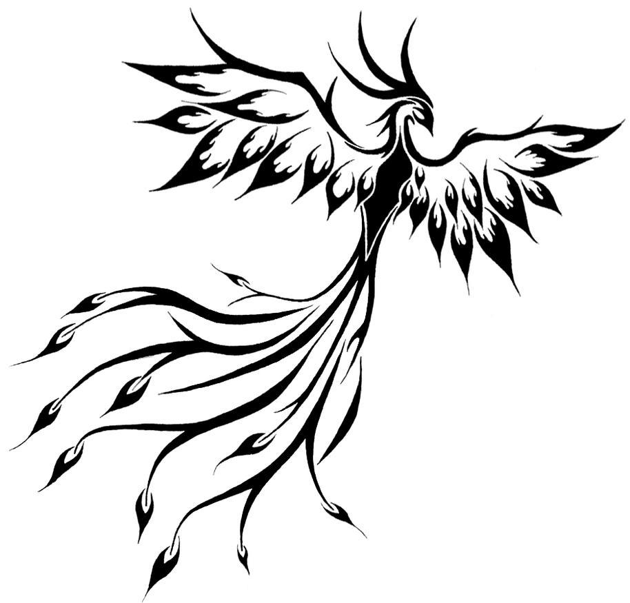Tribal Phoenix Drawing Viewing Gallery