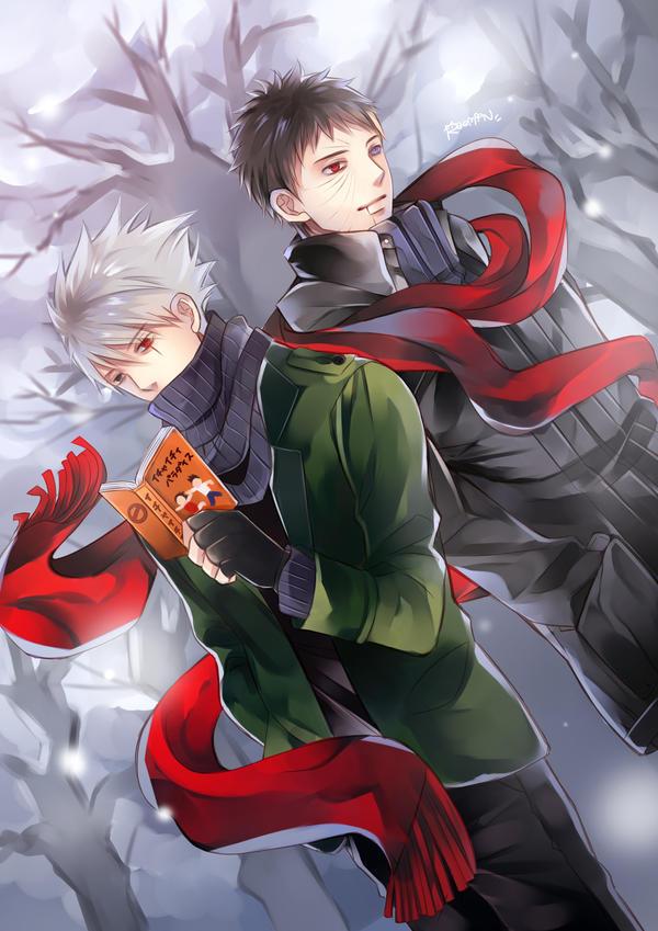 Kakashi and Obito by kawaiirei