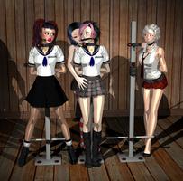 Schoolgirls by silenceyoursword