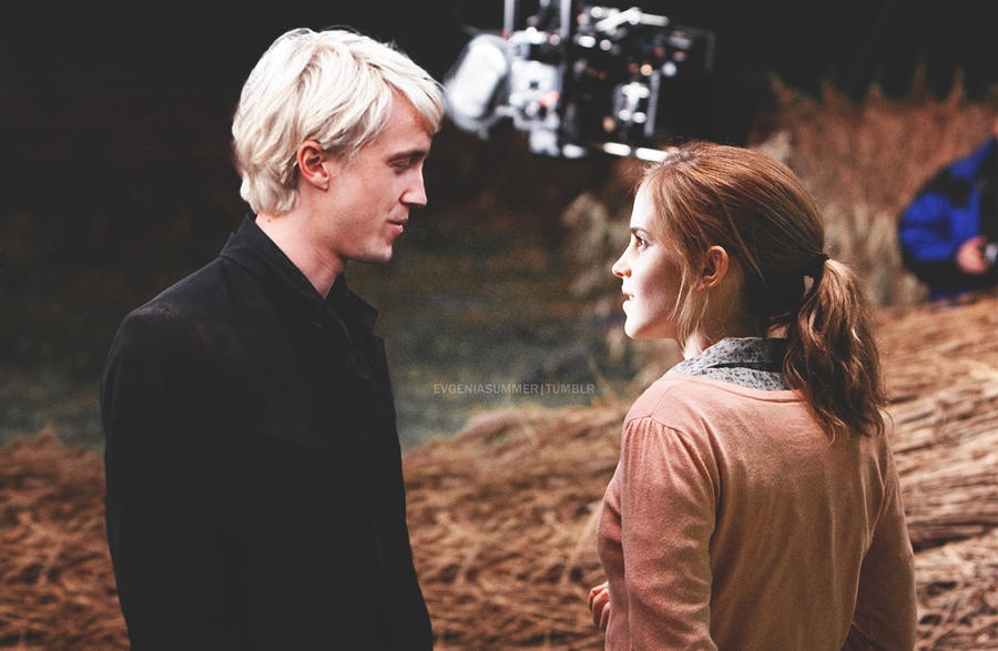 draco_and_hermione_on_set_by_evgeniasummer-d4me2co