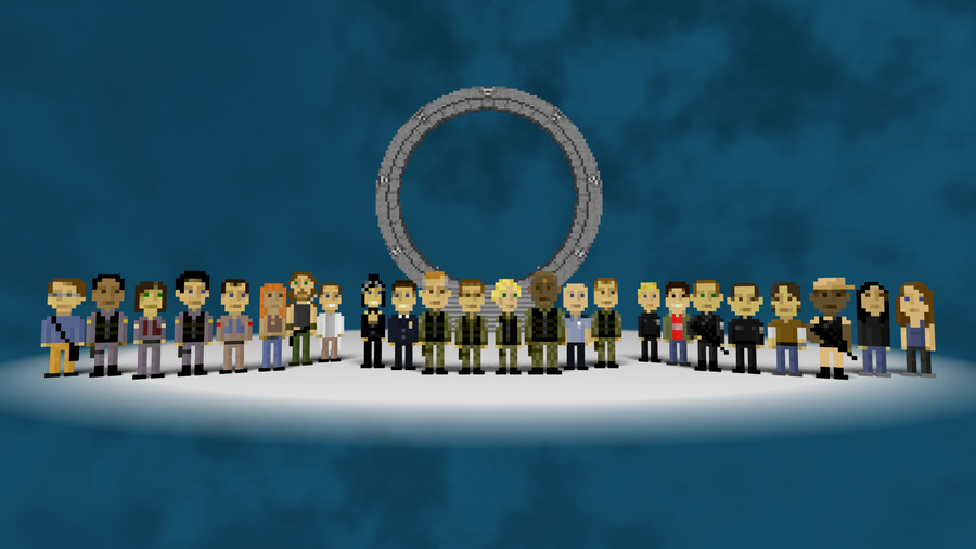 Pixel Stargate HD Wallpaper > Pixel Stargate hd widescreen wallpaper
