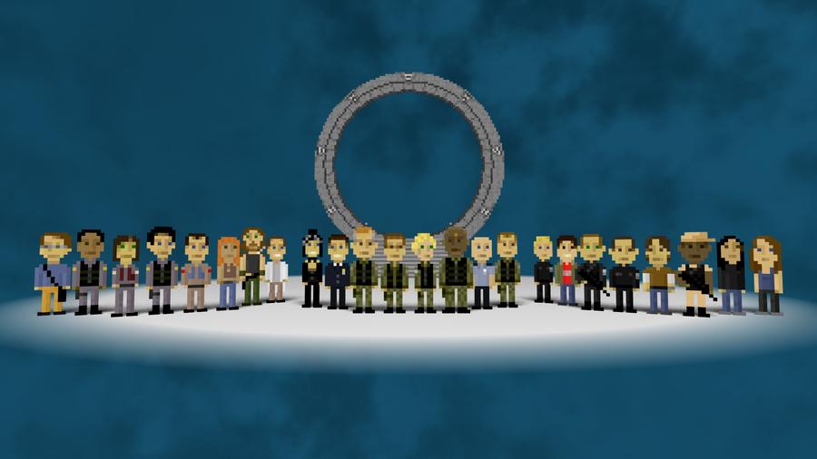 Pixel Stargate Wallpaper By Allicornuk On Deviantart