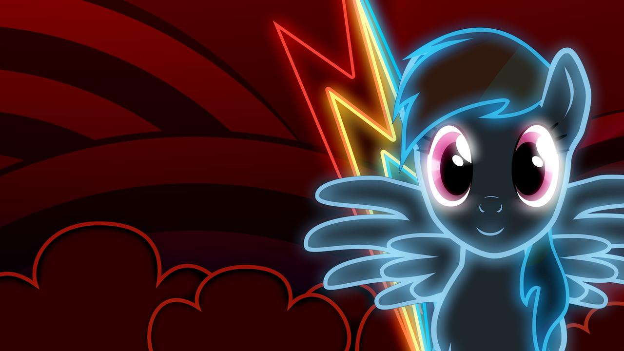 Neon Rainbow Dash Wallpaper by ZantyARZ on DeviantArt