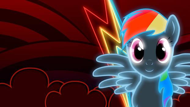 Rainbow Dash neon wallpaper 2