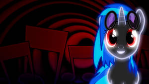 Vinyl Scratch neon wallpaper by AllicornUK