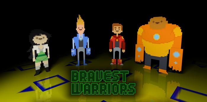 Bravest Warriors 3D pixels
