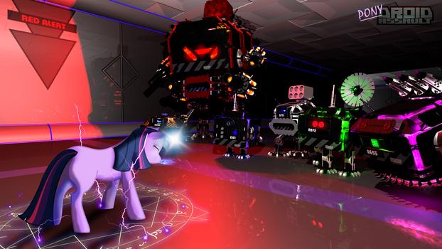 Twilight Sparkle vs Droid Assault