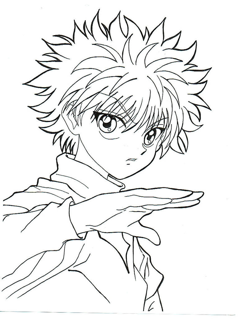 Killua by ayalovesvidel on deviantart for Hunter coloring pages