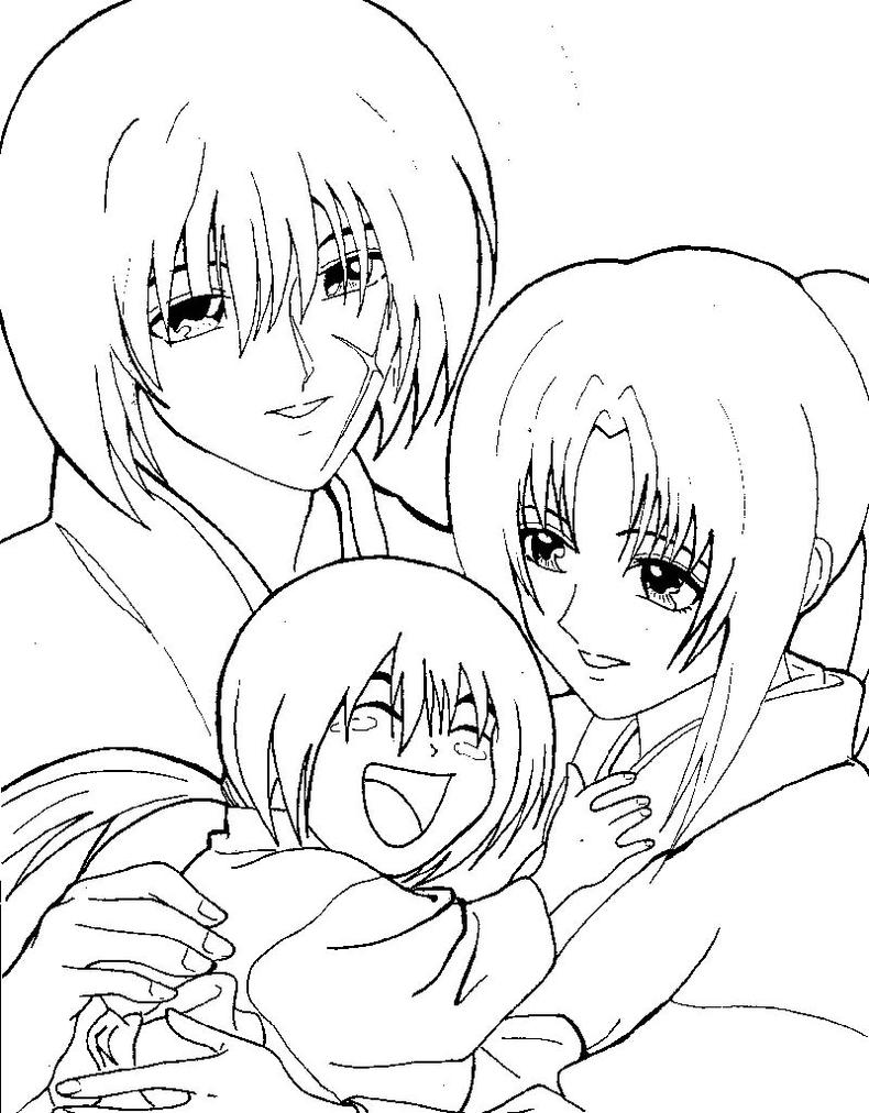 coloring pages for rurouni kenshin - photo#35