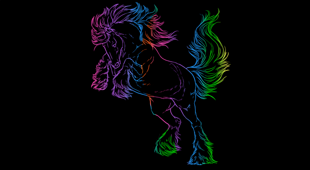 Amazing Neon Horse by Sparrowfern33 on DeviantArt