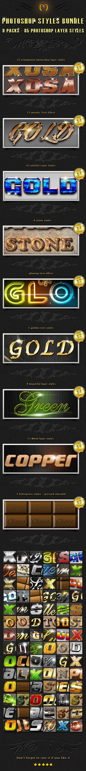 85 Photoshop Styles Bundle by simoke820