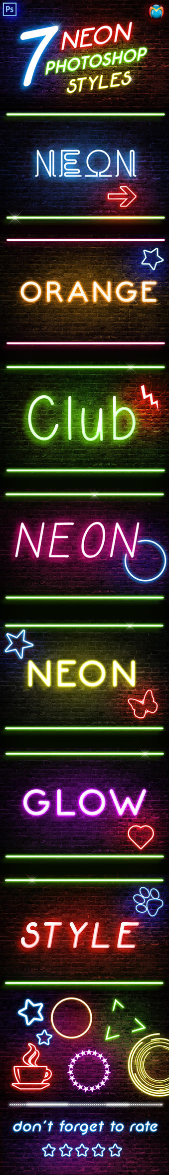Neon Photoshop Styles by simoke820