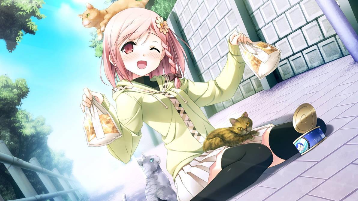 Anime Cute Wallpaper Cat Girl Wallpapers Skilal De By Huskywolf827