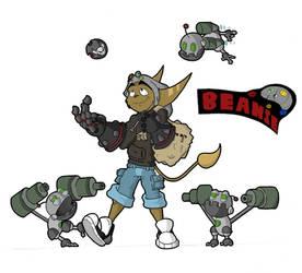 Beanie Lombax OC by Spectral-Beanie